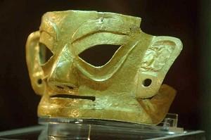 9 июня 2007 года впервые была выставлена золотая маска, обнаруженная при археологических раскопках в Цзиньша. Фото: Великая Эпоха