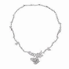 Ожерелье Dior белая роза